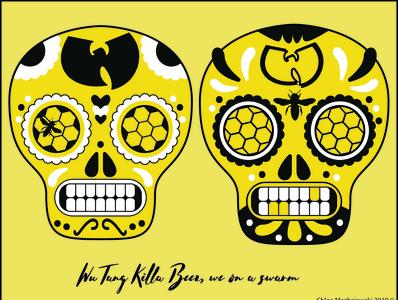 Wu Tang Skulls 1 Curated by Chloe Designs