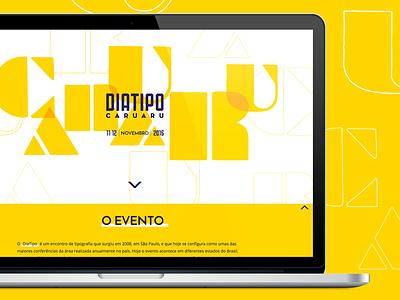 Dia Tipo Caruaru 2016 Responsive Website event pernambuco caruaru brazil typography type diatipo mobile responsive design website