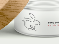 free rabbit body yoghurt freerabbit rabbit free jar cream cosmetics packaging logo logotype glass branding