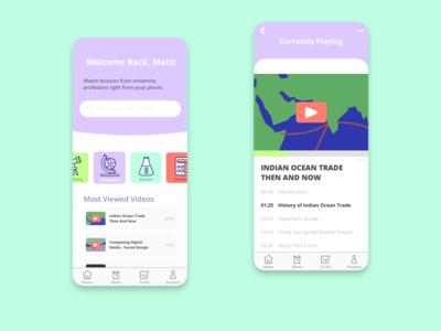 Education App Video Player