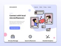 Landing Page - Social Media Influencer App