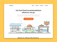 Landing Page - Food Recommendation App
