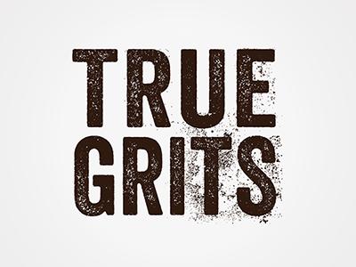 True Grits identity brand logo