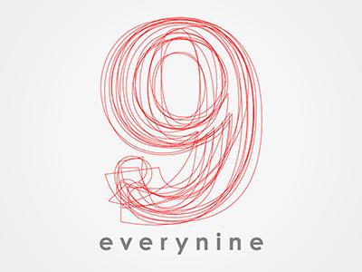 Everynine identity brand logo