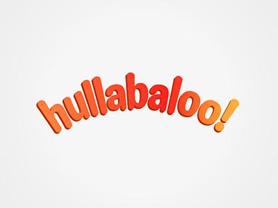 Hullabaloo logo identity brand
