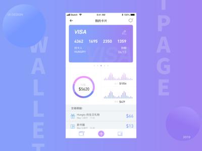 原始钱包页面设计wallet page