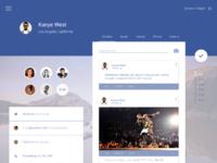 Facebook materialdesign bigger