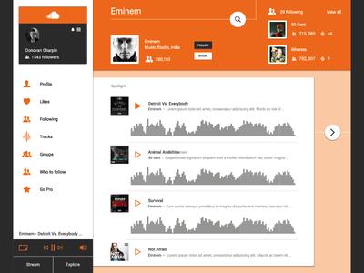 Soundcloud Material Design