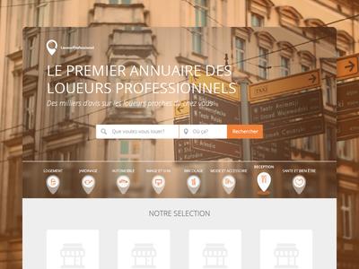 Homepage - Professional rental