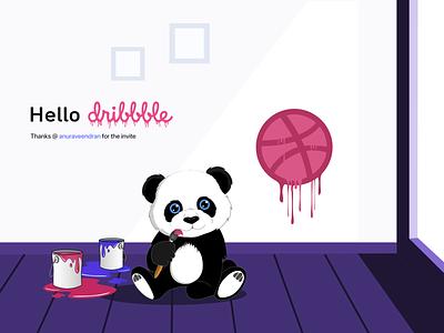 panda Dribbble