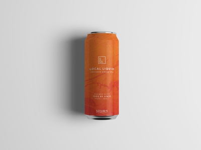 Local Liquid Crooked Creek IPA brand design logo design craft brewery brewery beer can ipa packaging design beer label