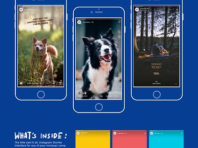 (Updated) Instagram Stories UI ios story stories freebies free mockup psd ui interface instagram