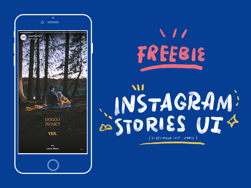 (Updated) Instagram Stories UI ios story stories freebies free mockup psd ui interface instagram