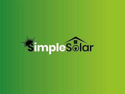 Black & White Simple Solar Company Logo branding solar business logo solar panels creative logo logo vector logodesign solar energy solar system solar logo