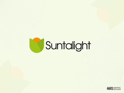 Suntalight Simple Nature Brand Logo Design in Adobe Illustrator sunlight  logo