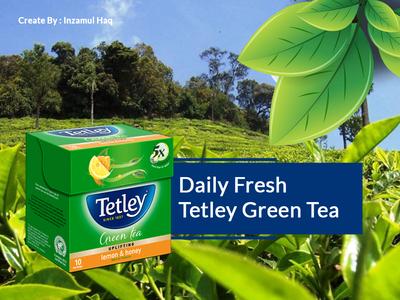 Tetley Green Tea Ads Banner Design #PSD