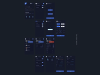 Architecture App UI Design Black Version