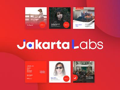 Jakarta Labs Branding logo branding design