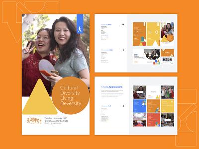 Global Village Bandung illustration simple organization aiesec branding design