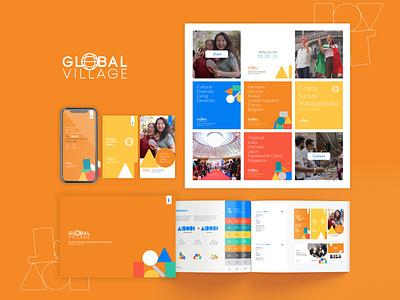 Global Village Event Branding logo design branding