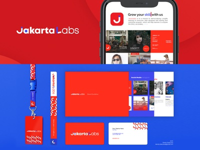 Jakarta Labs Branding simple ui illustration branding design