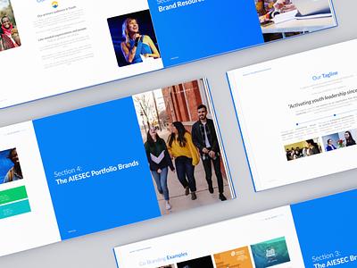 Blue Book 2020 layouts book layout organization aiesec branding design