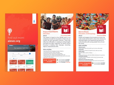 AIESEC Global Volunteer Opportunity Card