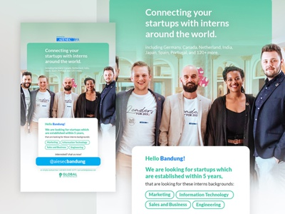 Poster Design of Internship Opportunity entrepreneur aiesec designs simple design