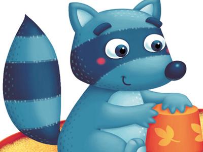 Raccoon raccoon animal illustration