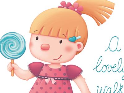 A Lovely Walk girl lollipop