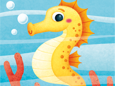 WIP illustration seahorse