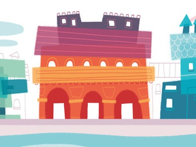 Colorful buildings! illustrations building house
