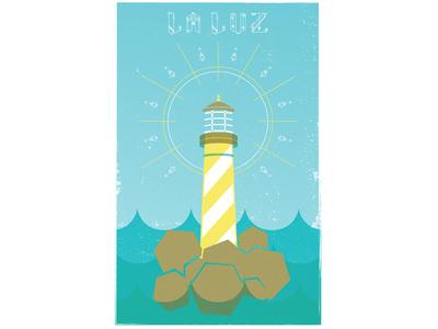 La Luz Band Poster la luz poster illustration lighthouse bartfest music