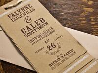 Wedding Invitation - Falynne & Caleb
