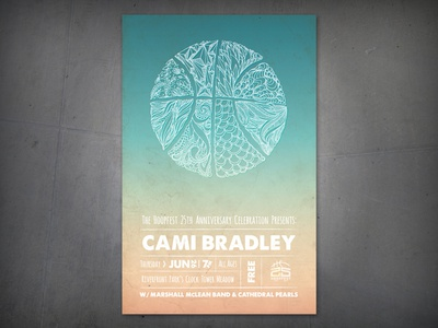 Hoopfest Poster hoopfest poster illustration basketball handdrawn music band gig poster cami bradley