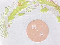 Wedding Invitation Detail - Max & Ashley