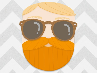 Dear Future Wife Illustration illustration portrait blog dear future wife sunglasses beard