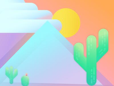 dreaming of warmer days sun mountain desert cactus