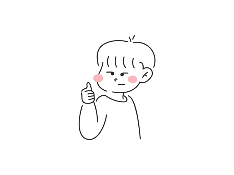 #ThumbUp alright great work good job okay ok thumb up thumbs up thumb little boy flat doodle art doodle design vector flat design boy illustration character design character