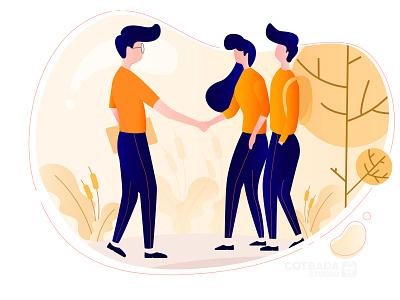Invite Team flat illustration illustration flat vector ux ui design