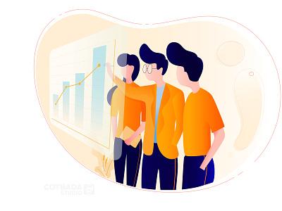 Analytic Data Illustration animation website app branding flat ui ux flat illustration design