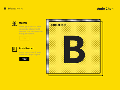 My website draft portfolio website design