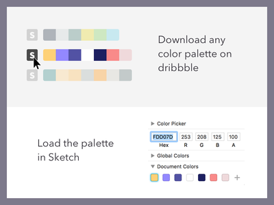 Dribbble Color Palette Generator process development color palette tool sketch dribbble chrome firefox add-ons extension