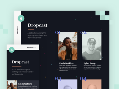 Dropcast - HTML Template for Podcasts/Audio Blogs