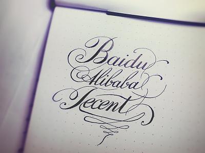 Engraver's Script letter type calligraphy penmanship hand writing sketch typography medium