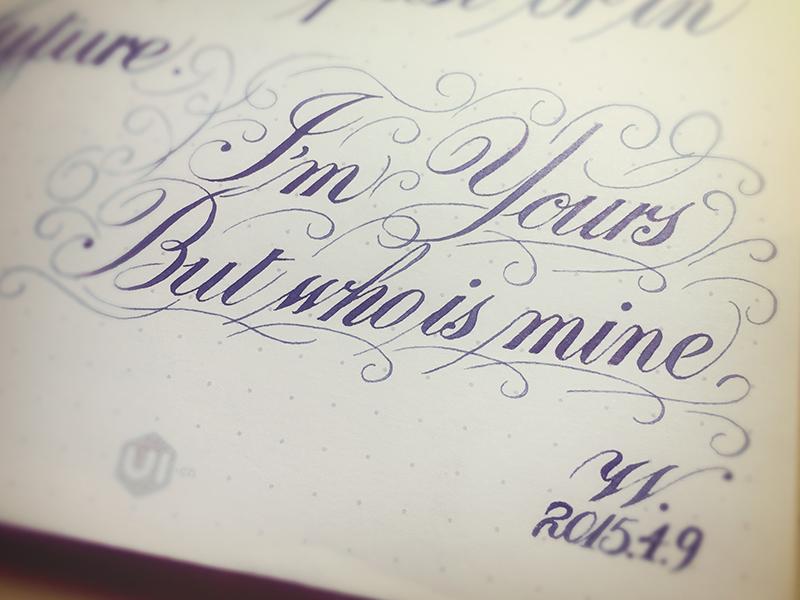 Mine calligraphy hand letter medium penmanship sketch type typography writing