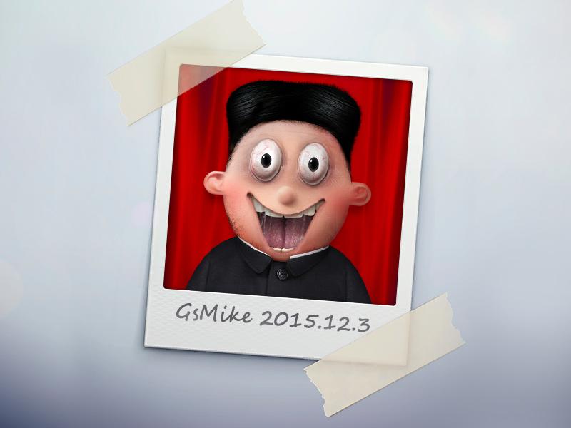 My own head portrait tim burton fan art painting avatar portrait