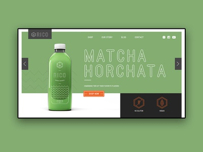 Landing Page Design | Rico Juice Brand |