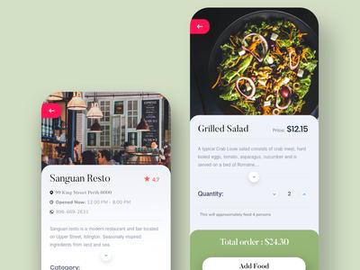 App Design | UI for food ordering app |
