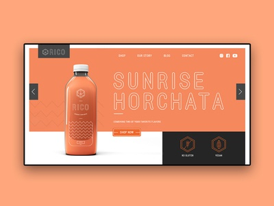 Landing Page Design| Rico Juice Brand